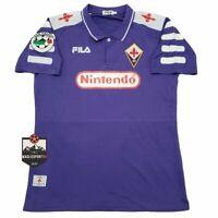Maglia Fiorentina 1998-1999 - Batistuta Rui Costa Maglia Calcio Vintage Retro