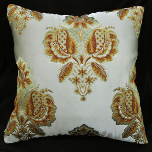 HC104a Pale Olive Gold threads Jacquard Cushion Cover/Pillow Case*Custom Size