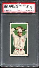 1909-11 T206 Cecil Ferguson PSA 4.5 +++ Looks Nicer Centered Boston Nat'l