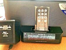 Sony Dream Machine ICF-C1iPMK2 AM/FM Alarm Clock Radio iPhone iPod Dock w/Remote