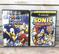 Sonic Hereos & Sonice Mega Collection (2001, 2002) GameCube Games Complete Lot
