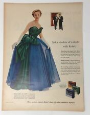Original Print Ad 1953 KOTEX Not a Shadow of a Doubt Ball Gown
