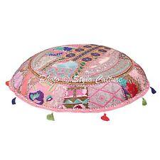 Handmade Cotton Patchwork Ottoman Pouf Cover Decorative Floor Cushion Cover