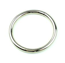"Stainless Nickel Plated Steel Rings Welded Nickel Plated 3 "" Eye Size-2 Pcs"