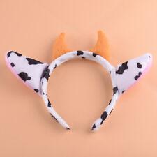 Cute Girl Cow Horn Headband for Halloween Christmas Birthday Costume Cos. Party