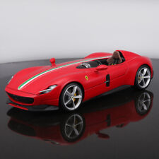 Bburago 1/18 Ferrari MONZA SP1 open and close Diecast Car model Gift Gray/Red