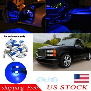 Map Dome Blue LED Interior lights For 1988-98 Chevy Silverado/GMC Sierra US a2