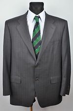 Italian CANALI Wool Blazer Pinstriped UK 44R Jacket Suit Eur 54R Gr Sakko Herren