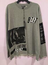 Bare Fox Men's 3XL Gray Black Top Shirt Sweatshirt XXXL One Color One Nation