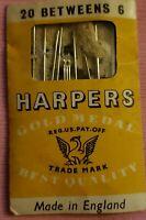 Vintage Harpers Gold Medal Needles Pack England Thomas Harper