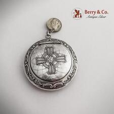 Religious Beauty Patch Box Sterling Silver 1890