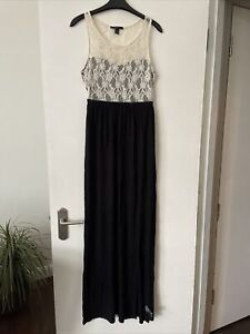 Forever 21 Maxi Beach Black And Lace Dress Size Small / 8