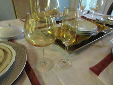 Pair Vintage Topaz Fluted Wines Multiples available