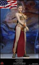 1/6 Star Wars Princess Leia Head Sculpt Organa Slave Outfit Set For Hot Toys