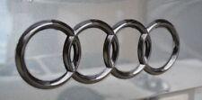 Audi A4 S4 RS4 Gloss Black 3D Boot Logo/Rings/Badge/Emblem 180mm x 60mm