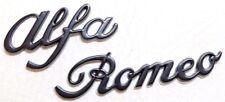 ALFA ROMEO in metallo nero PORTELLONE DISTINTIVO POSTERIORE BOOT De-Chrome MITO GIULIETTA GIULIA