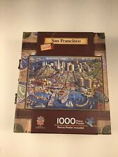 1000 piece puzzle of San Francisco with carrying case and handle