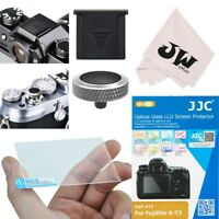 4in1 Kit Glass Screen Protector+Shutter Release Button for Fujifilm X-T3 XT3