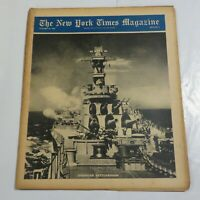 The New York Times Magazine WWII October 29 1944 American Battlewagon NY1
