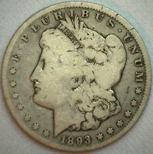 1893 CC Morgan Silver Dollar Coin Good Carson City  $1 US Coin K59