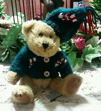 Vintage Teddy Bear Chrisha Panda Playful Plush Jointed 1988 Sweater/hat Xmas toy