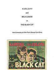THE BLACK CAT SCRIPT COPY 1934 NEW BORIS KARLOFF BELA LUGOSI EDGAR ULMER HORROR