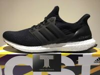 Adidas Ultra Boost 3.0 ~ Black ~ Ba8842 ~ Uk Size 11.5
