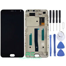 TOUCH SCREEN VETRO + LCD + FRAME DISPLAY ASSEMBLATO MEIZU M2 NOTE Nero black