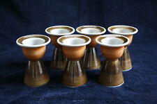 6x vintage double egg cup Rörstrand Annika, Made in Sweden