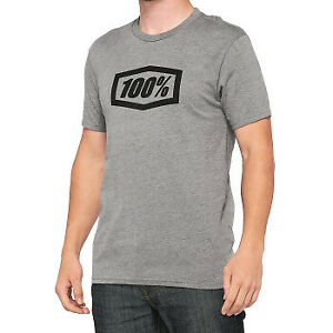 100% Icon T-Shirt Heather Gray All Sizes