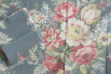 Vintage Ralph Lauren Pair Pillowcases Blue Floral Shelter Island Black Tag USA