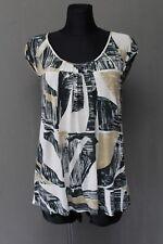 MAX MARA Weekend Damen Bluse Size L Shirt Kurzarm Mehrfarbig Top ^20