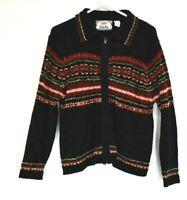 TIARA International Women's Medium Long Sleeve Full Zip Sweater Cardigan Jacket