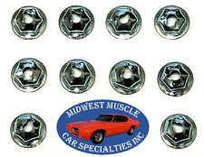 Ford Lincoln Mercury #6-32 Fender Quarter Trunk Trim Clip Molding Nuts 10pcs J