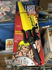 1984 VINTAGE MOTU HE-MAN LASER LIGHT SWORD MOC MIB MASTERs Of The UNIVERSE Nos