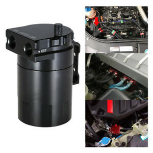 Newly Aluminum Fuel Baffled Oil Catch Can Tank Reservoir Breather With Fitting