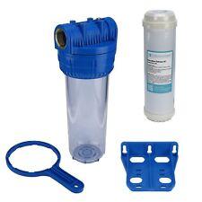 """Brunnen Wasser Filter 10"""" Gehäuse mit 1"""" IG, Garten, Pool, mit Eisenfilter"""