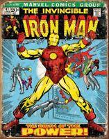 Die Invincible Iron Man Marvel Metall Schild 400mm x 300mm (De)