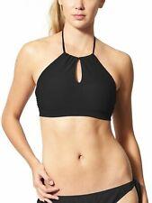 BLACK sz M Medium #405939 NWT ATHLETA Shirred Halter Tankini Swim Top