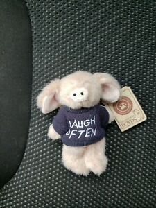 Boyds The Archive Collection 4 inch Plush Pig T Hee Laugh Often NWT mini message