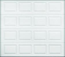 Wayne Dalton 9100 Insulated Garage Door, 8 ft W x 7 ft H, Steel, White