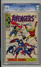 Avengers #58 CGC 9.6 NM+ Unrestored Marvel Origin & 2nd Vision OFF-WHITE Pages