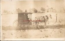 RPPC  HORSE DRAWN E. E. KREIDER,  PARADISE, PA LANCASTER COUNTY