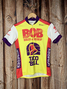 Vintage Inmotion Cycling Specialized No Fear Taco Bell Yellow Jersey Mens Sz S