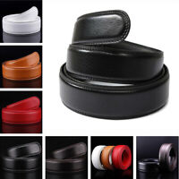 6 Colors Leather Ratchet Belt For Automatic Buckle Waistband Strap 110cm-140cm