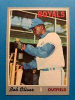 1970 Topps Bob Oliver card# 567 Kansas City Royals
