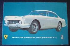 FERRARI 250 GT GRANTURISMO COUPÉ PININFARINA 2+2 Car Sales Brochure - c1960