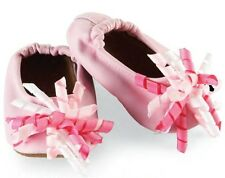 Mud Pie Pink Curly Grosgrain Ribbon Leather Shoes
