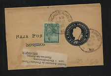 Argentina   nice uprated wrapper to  Belgium  1902     HC0406