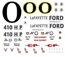 #0 Dan Gurney 1963 Galaxie Lafayette Ford 1/64th Ho Scale Slot Car Decals